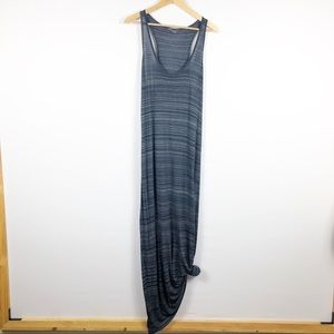Vince Navy Striped Maxi Tank Dress Large